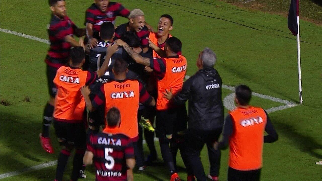 Os gols de Vitória 1 (4) x (3) 0 Internacional pela quarta fase da Copa do Brasil