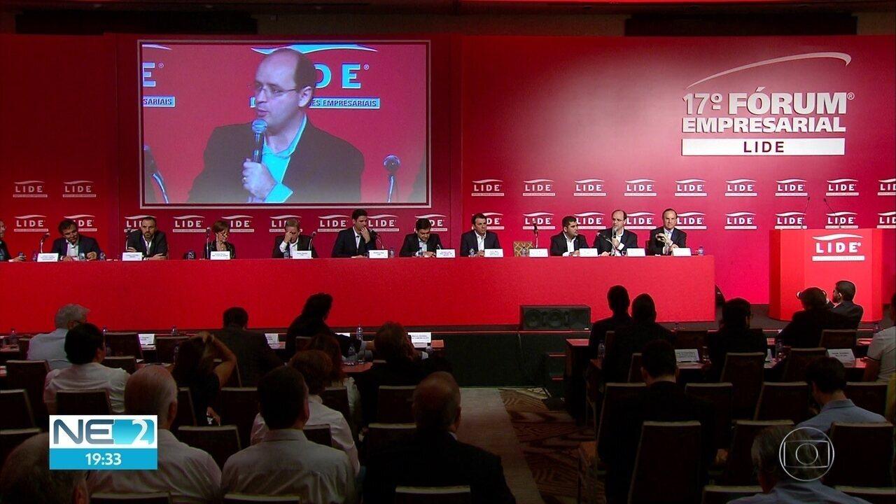 Empresários brasileiros se reúnem em PE para discutir temas econômicos e sociais