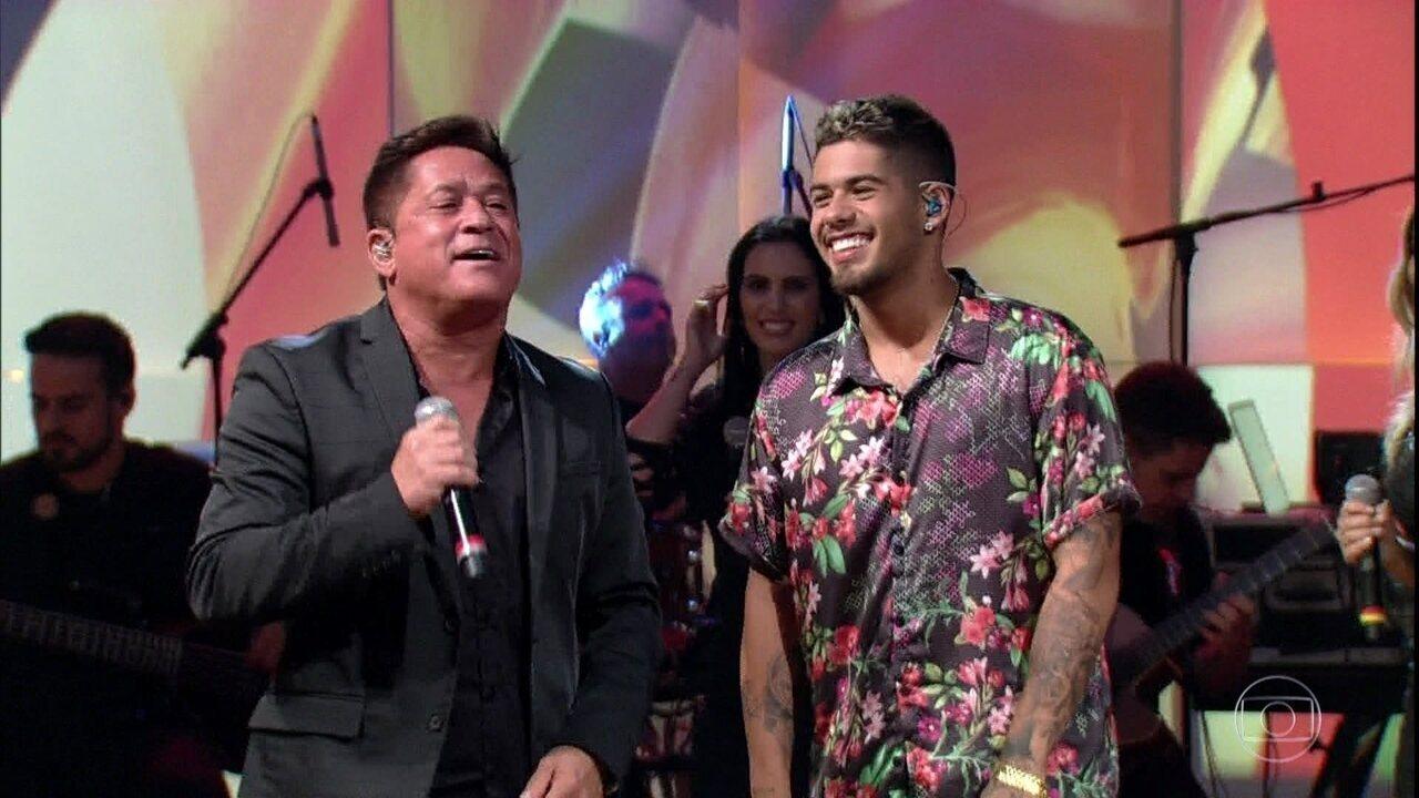 Leonardo e Zé Felipe cantam