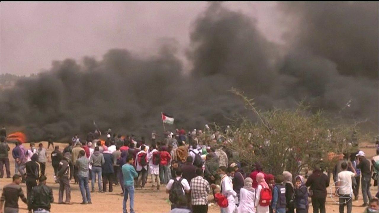 Três pessoas morreram e 300 ficaram feridas nas manifestações, em Gaza