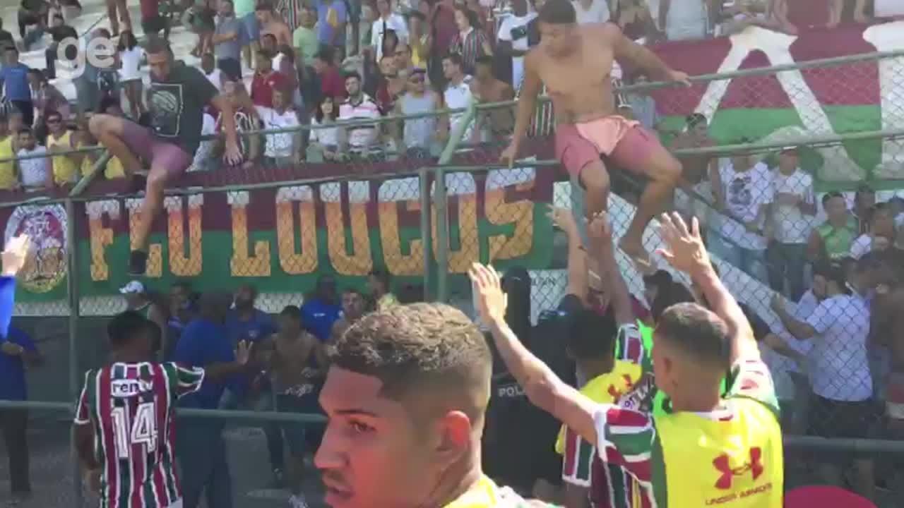 Veja confusão durante jogo do Sub-20 do Fluminense