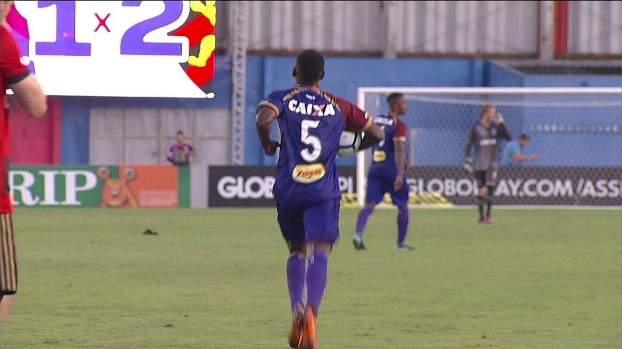 Jhonny Lucas fez seu primeiro gol com a camisa paranista diante do Sport