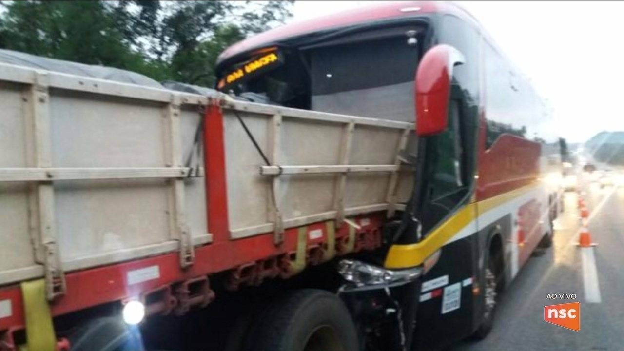 Motorista de ônibus morre após bater contra carreta na BR-101