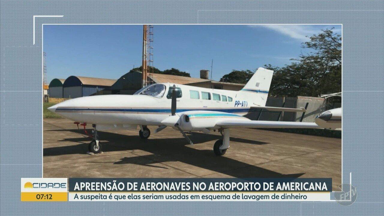 Dise de Americana apreende duas aeronaves estacionadas no aeroporto