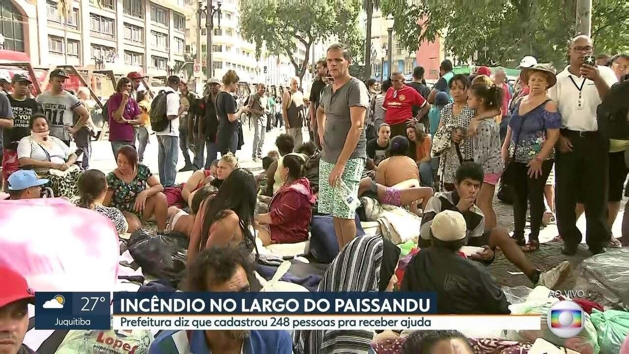 Prefeitura cadastra 248 pessoas que viviam no prédio que desabou para receber ajuda