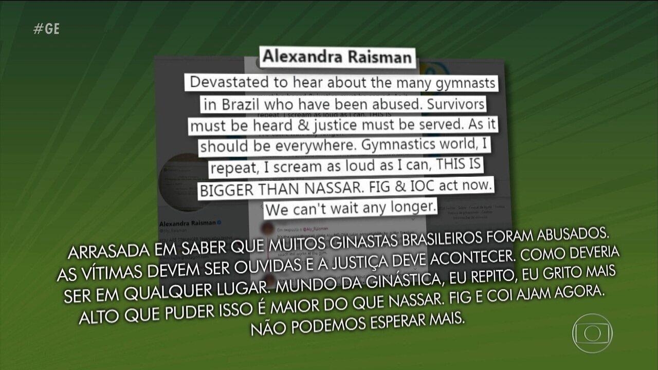 Casos de abuso sexual na ginástica artística brasileira repercute no exterior