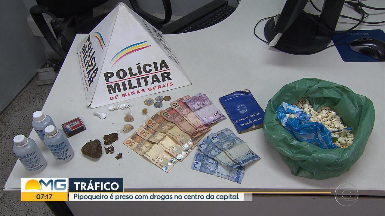 Polícia Militar prende pipoqueiro suspeito de vender drogas em Belo Horizonte