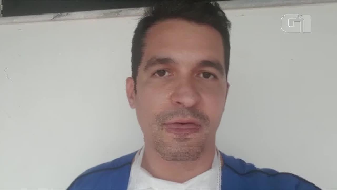 Gerente do SAMU Fortaleza fala sobre resgate durante incêndio em Fortaleza.