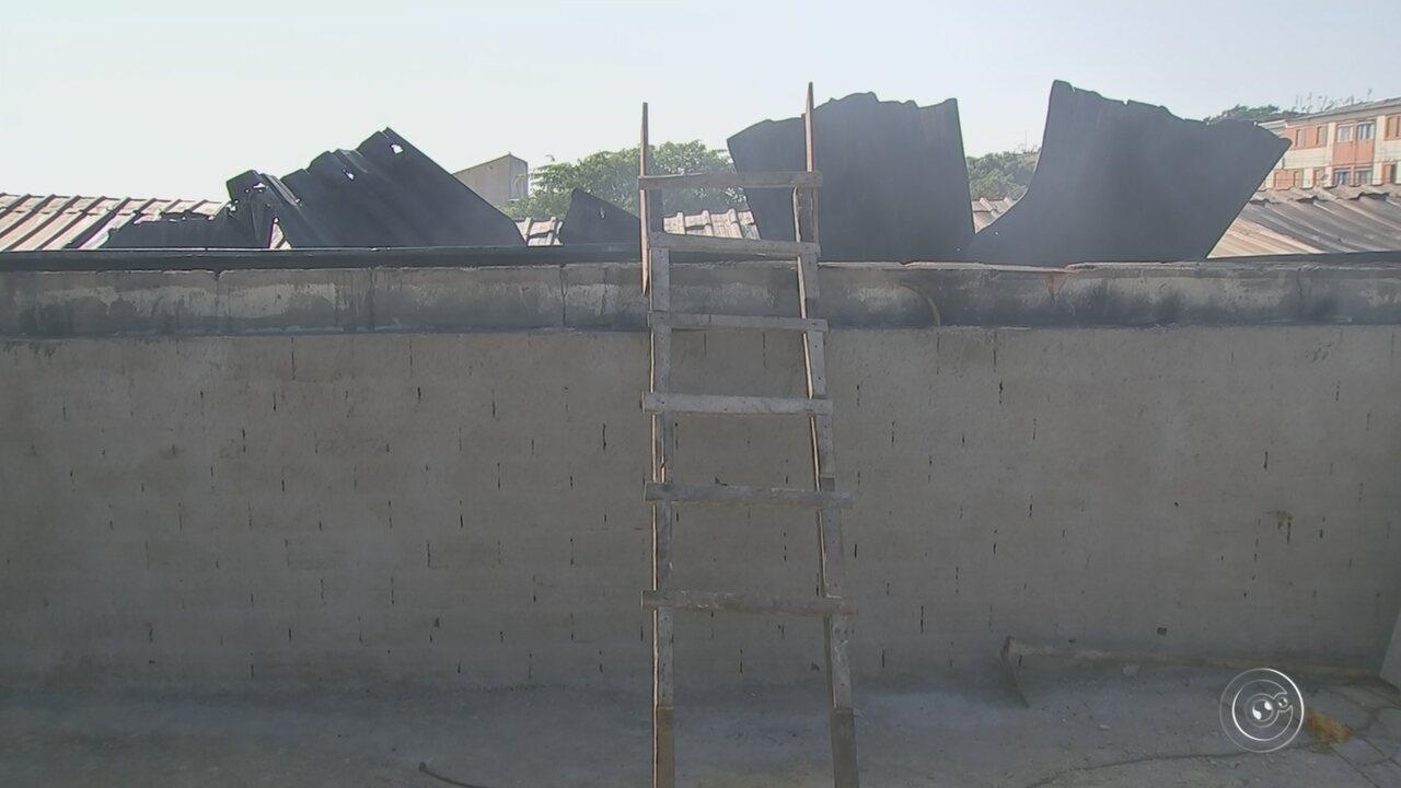 Defesa Civil libera casas atingidas por incêndio em fábrica de bolsas