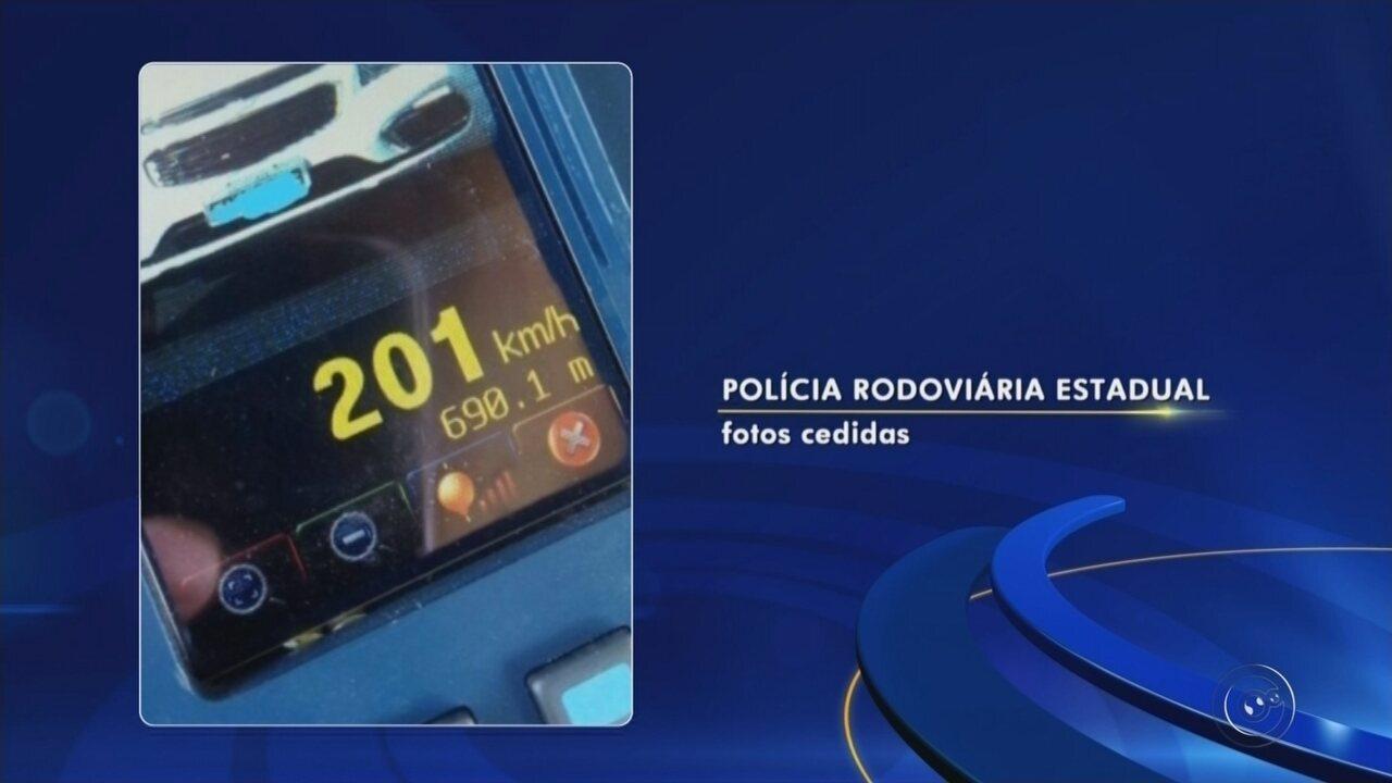 Polícia Rodoviária registra impudência no trânsito do noroeste paulista durante o feriado