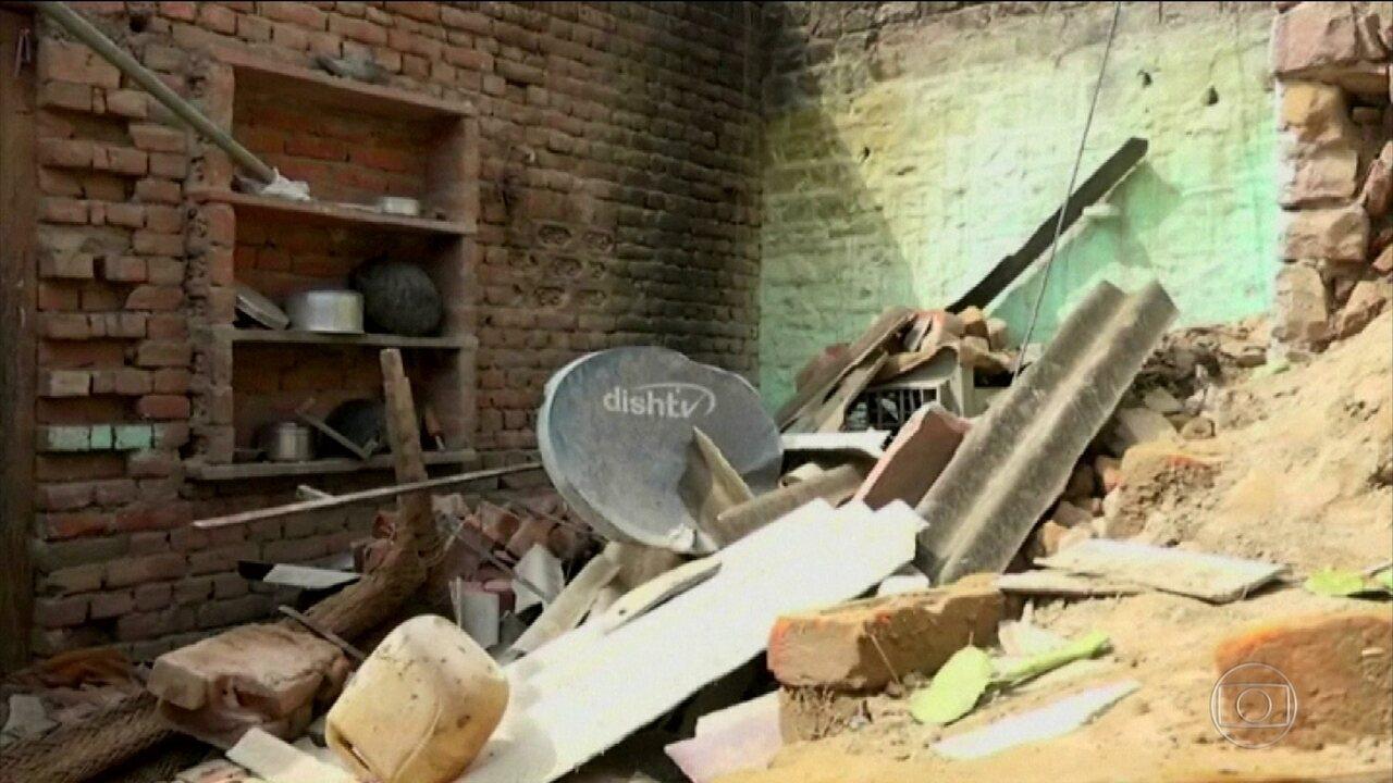 Índia decreta alerta máximo após a pior tempestade de areia em 20 anos