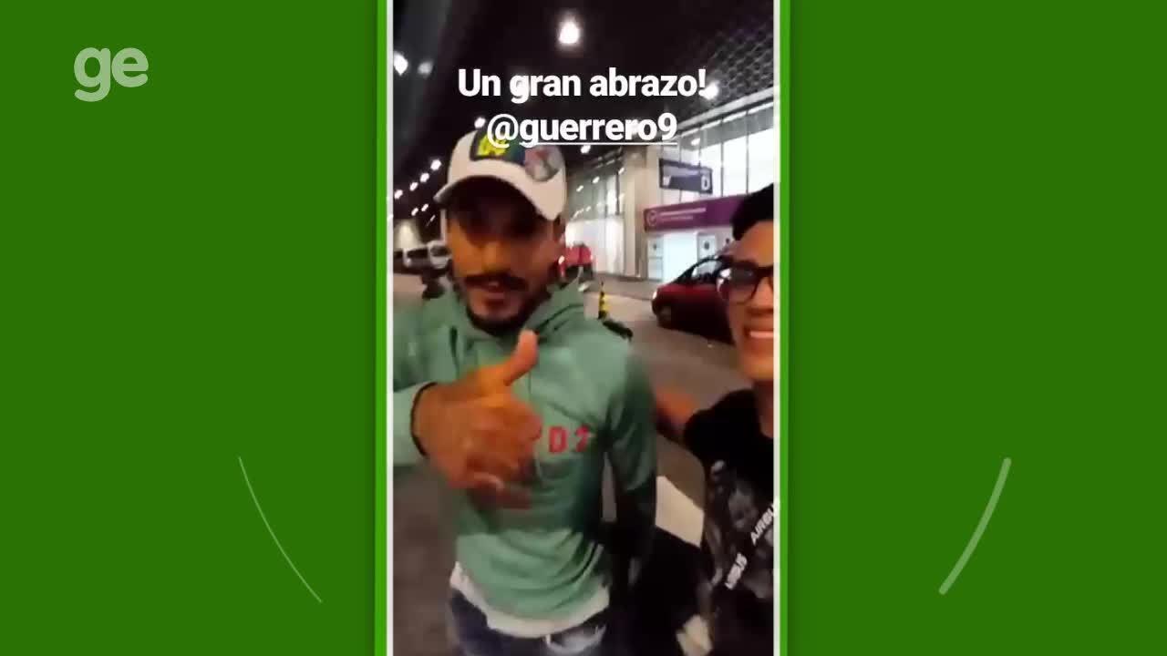 Guerrero retorna ao Rio de Janeiro e manda abraço para a torcida rubro-negra