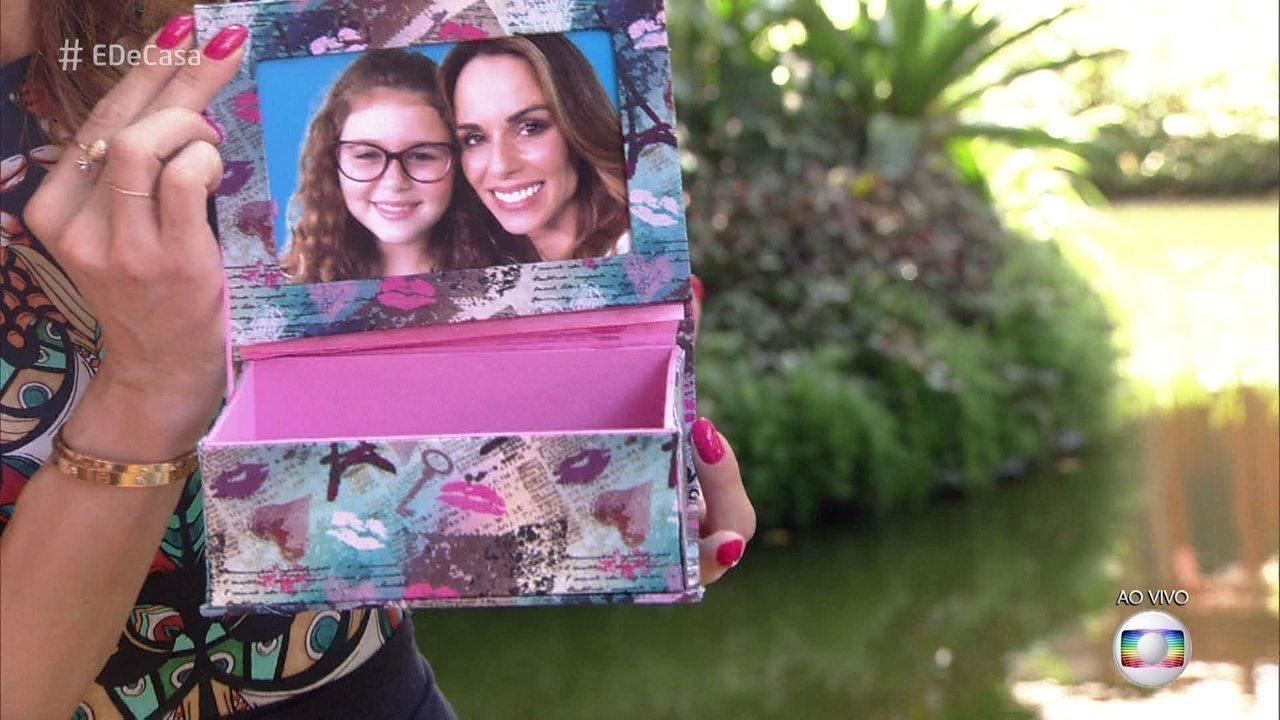 Aprenda a fazer caixa com porta-retrato. Veja o passo a passo!