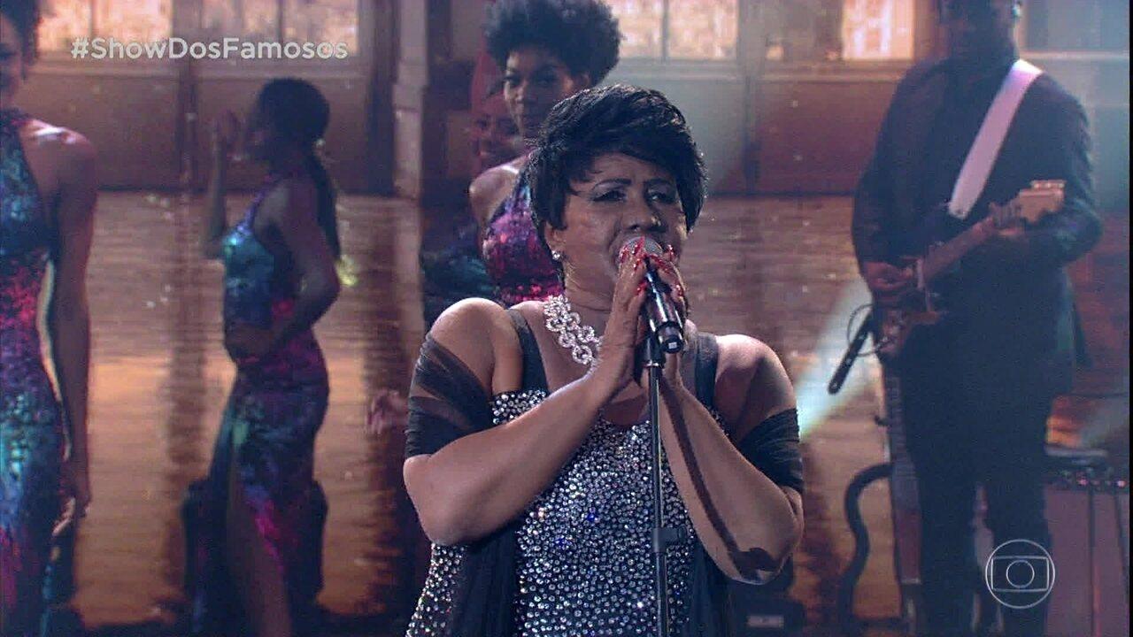 Sandra de Sá homenageia Aretha Franklin no Show dos Famosos