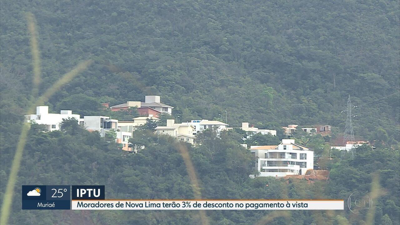 Moradores de Nova Lima terão 3% de desconto no pagamento à vista do IPTU