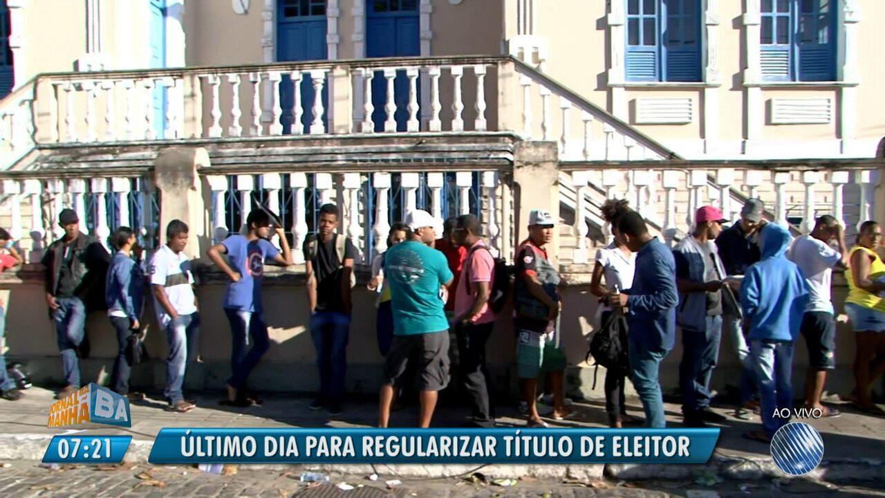 Último dia da biometria: eleitores encaram filas em Juazeiro, Feira e Ilhéus