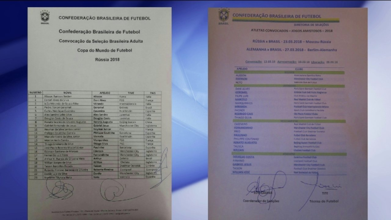 Fake news  lista de convocados da seleção brasileira que circula na ... 729a9b33bb70a