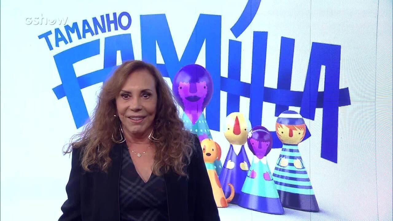 Arlete Salles dá depoimento após participar do Tamanho Família