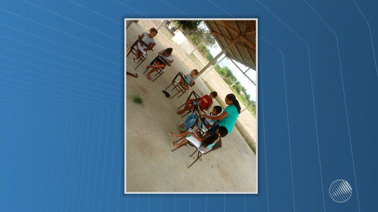 Denúncia: crianças assistem aulas em local sem condições de ensino em Mucuri