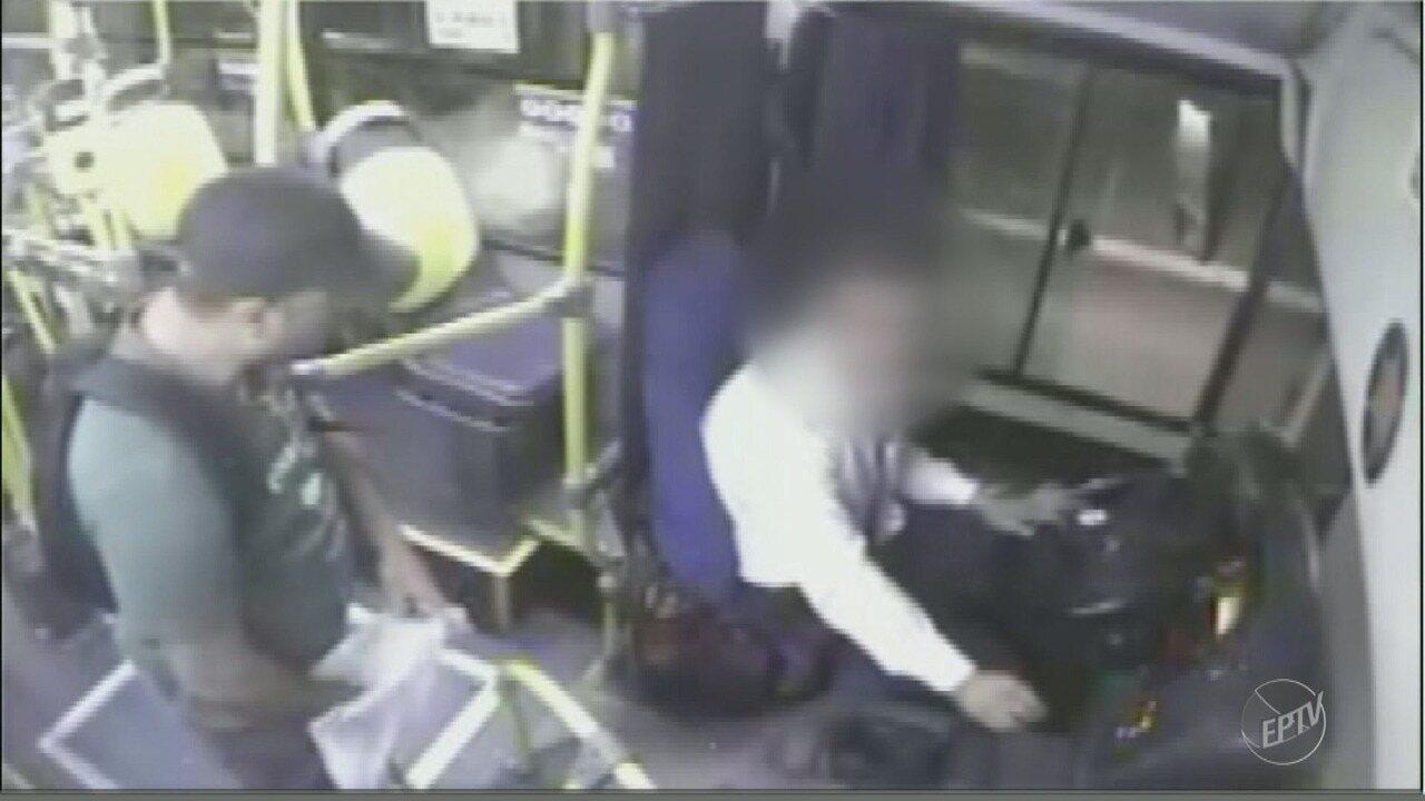 Suspeito vai preso por roubar dinheiro de ônibus, em Americana