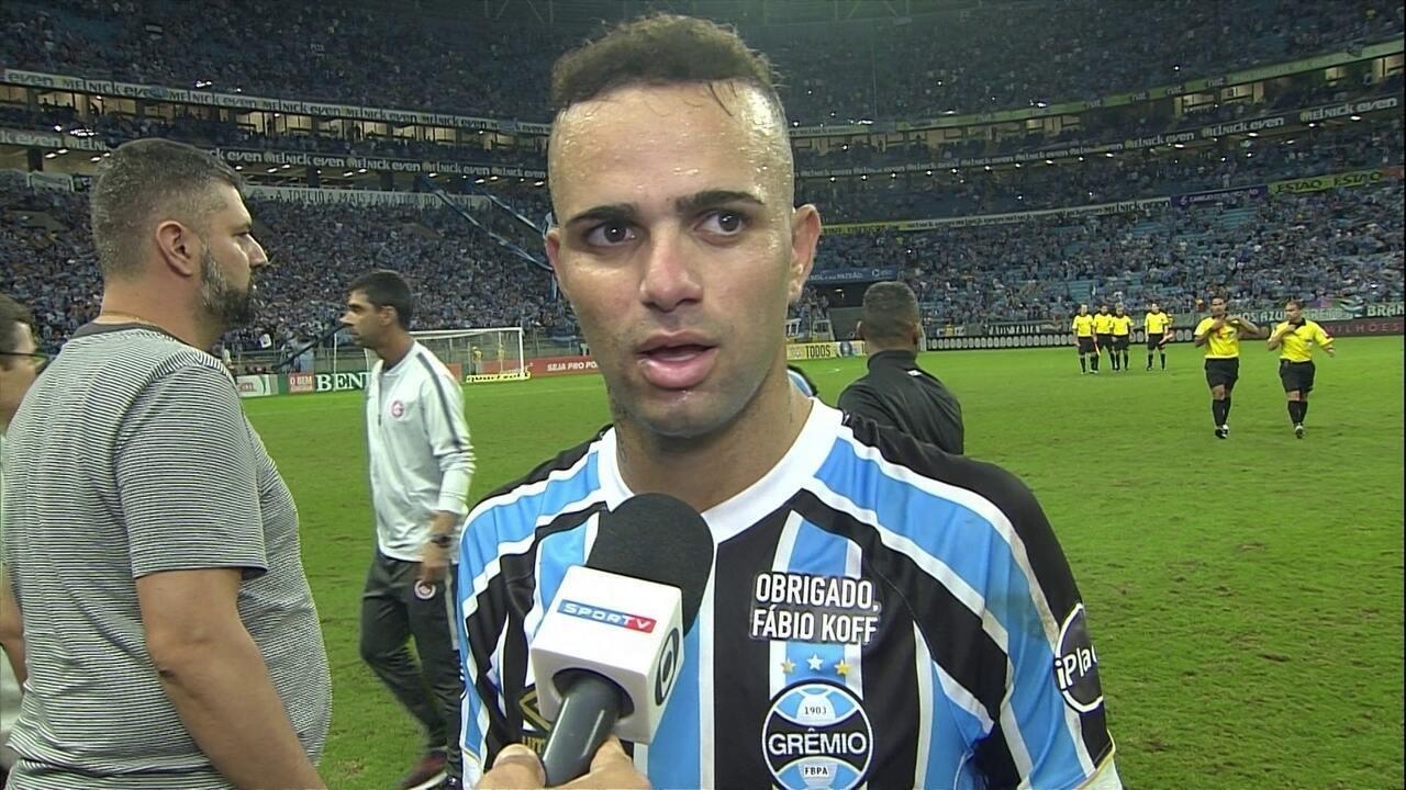 Luan lamenta empate do Grêmio com o Inter: