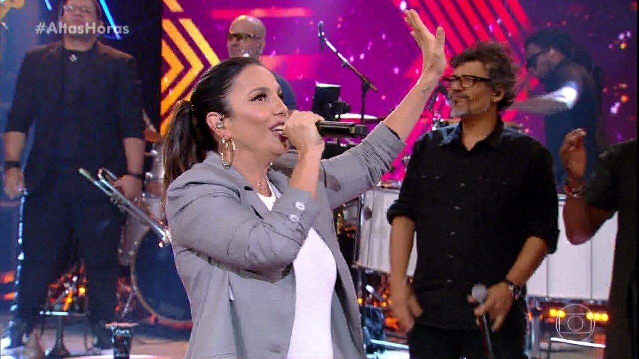 Ivete Sangalo abre 'Altas Horas' com Tempo de Alegria