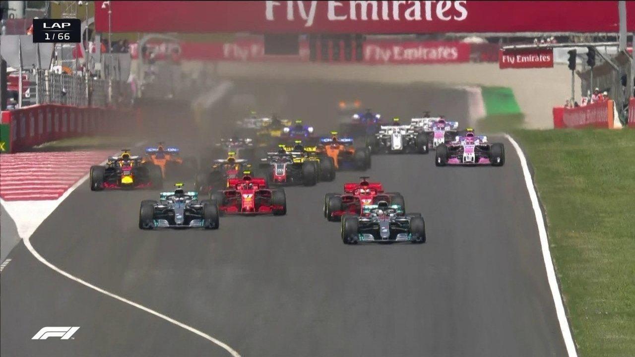 Confira a largada do GP da Espanha de Fórmula 1
