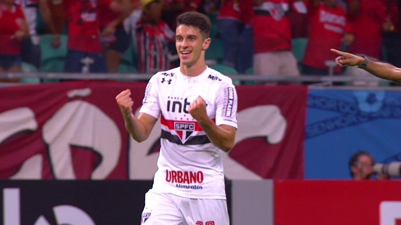 Shaylon faz o gol de empate do São Paulo contra o Bahia