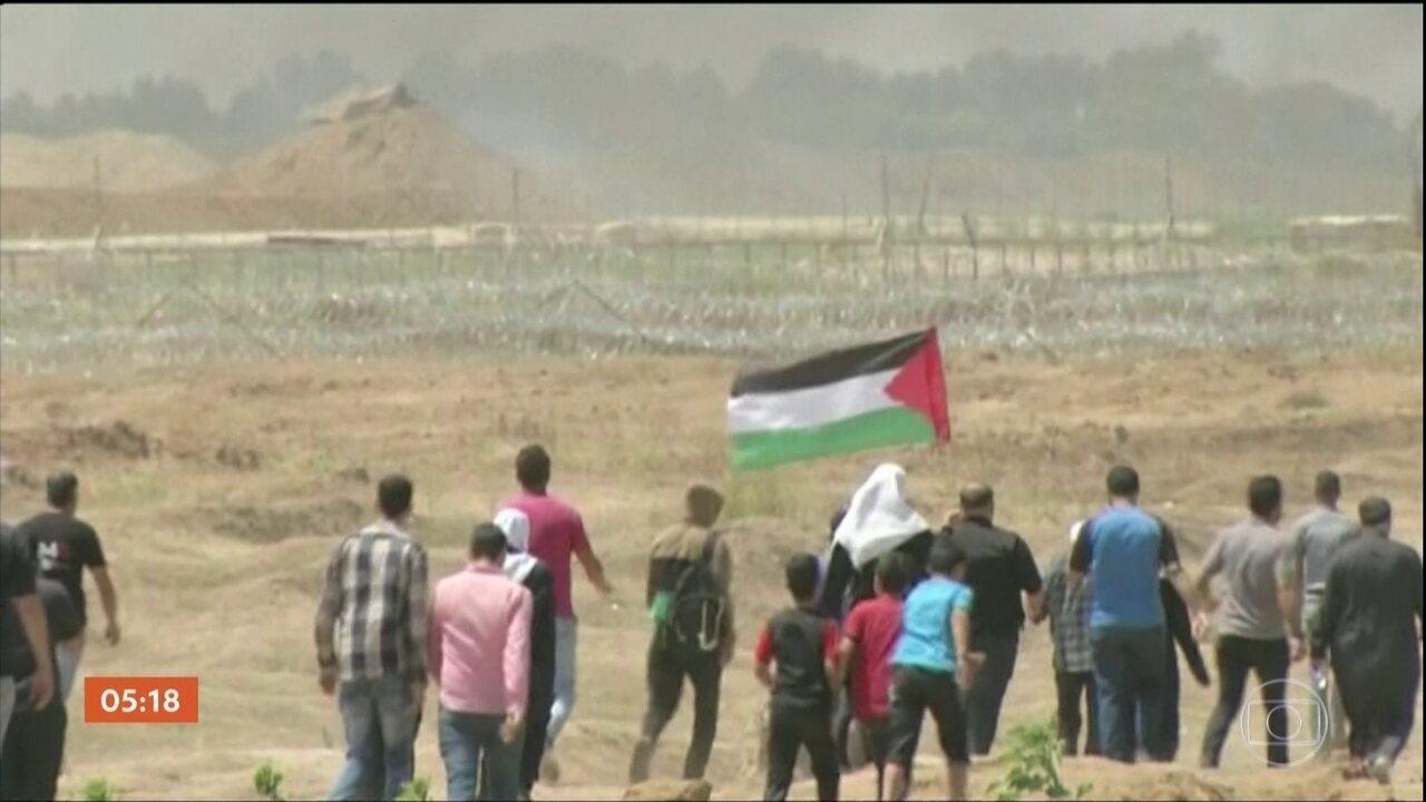 Pelo menos 58 palestinos morrem em conflito na Faixa de Gaza