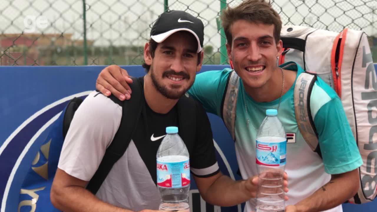Orlando Luz fala sobre participação em torneio de tênis no Egito