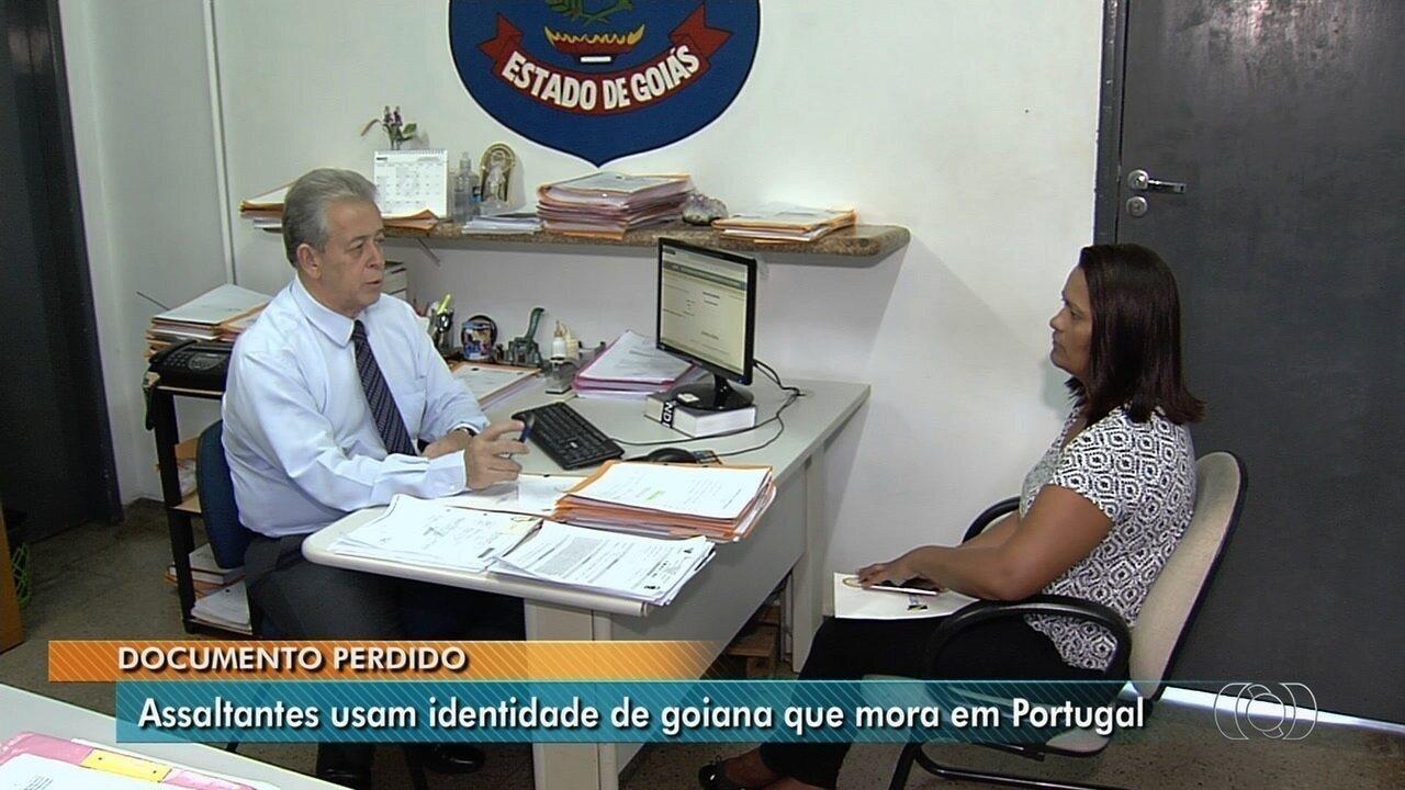 Goiana que mora em Portugal afirma que teve RG usado por assaltantes em Goiânia
