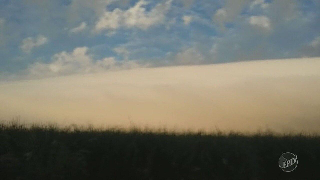 Campinas e região amanhece com nuvem que chama atenção de moradores; máxima é de 26ºC