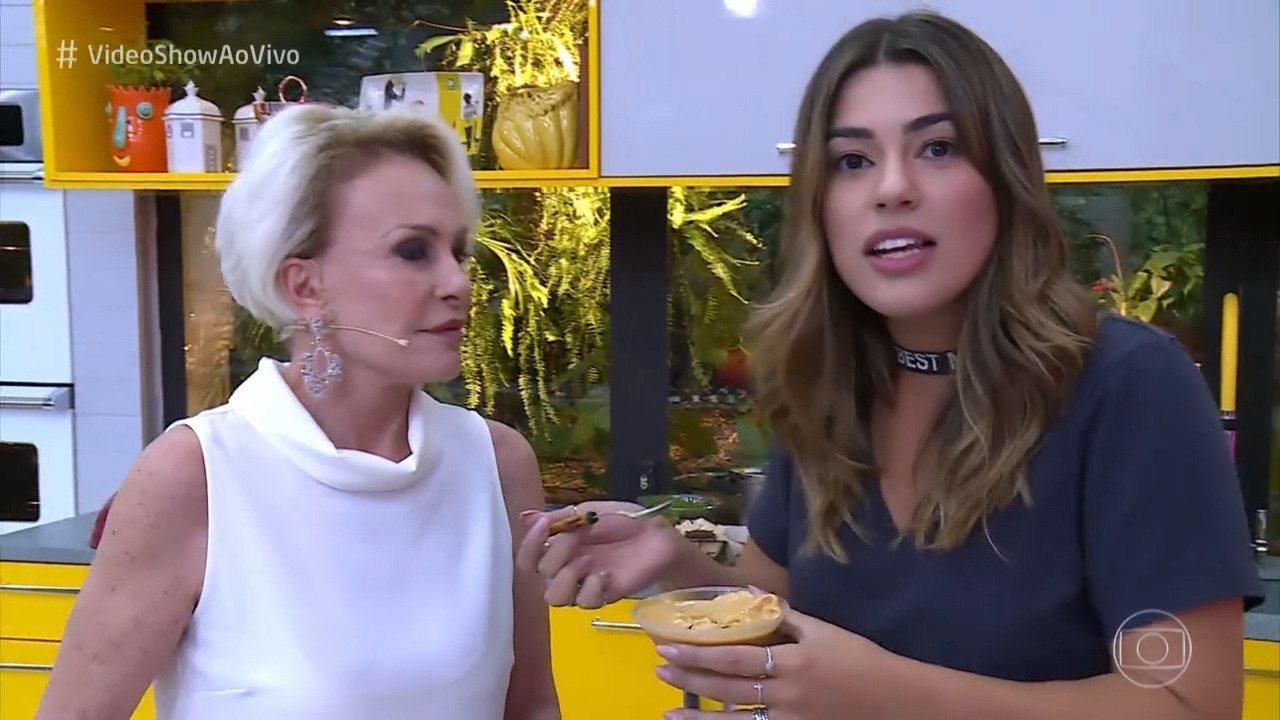 Viviam Amorim aprende com Ana Maria a receita de Baba de Camelo