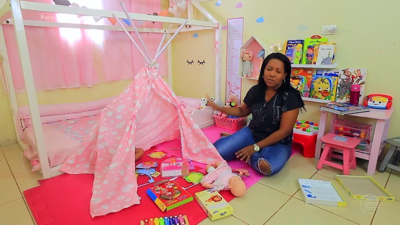 Cabaninha virou brinquedo e item decoração no quartos infantis