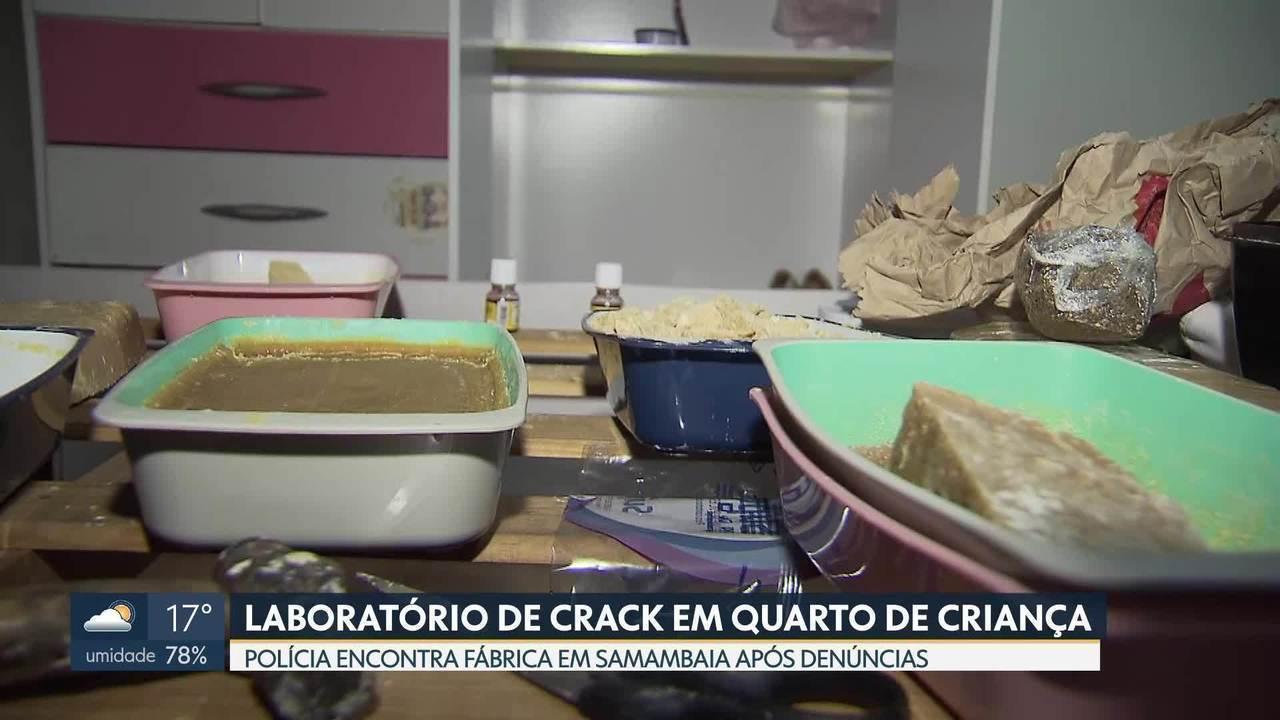 Laboratório de crack funcionava em quarto de criança de 2 anos