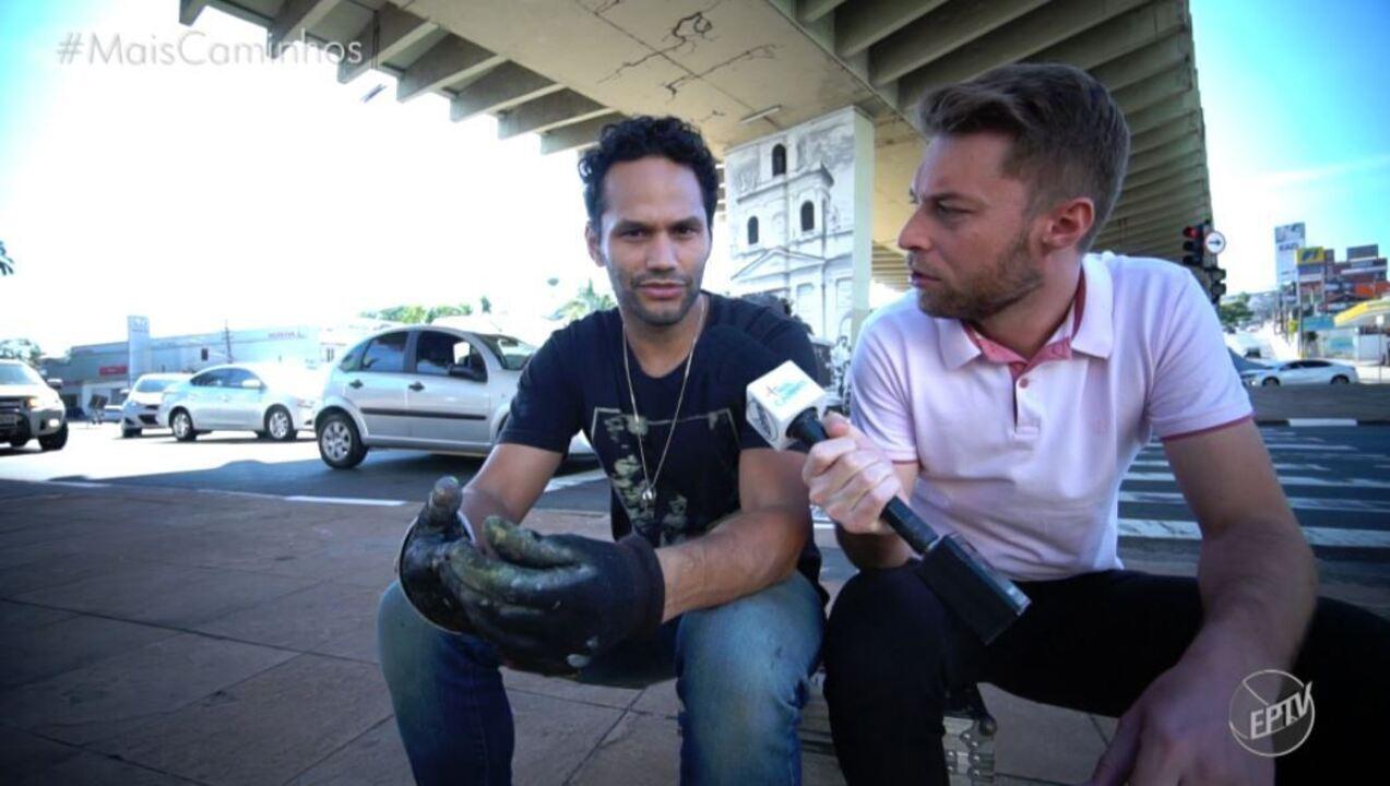 Artista de Campinas (SP) deixa um presente para cidade natal após rodar o mundo
