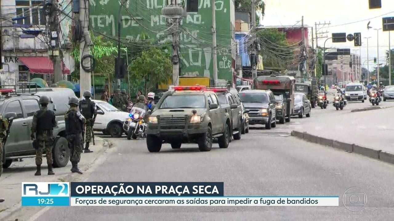 Forças de Segurança cercam saídas para empedir fuga de bandidos na Praça Seca