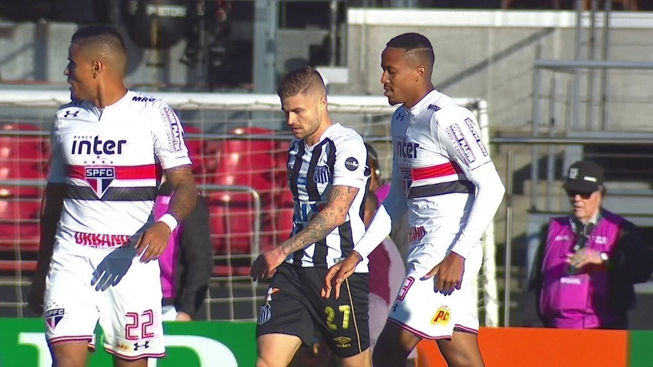 236acf9102c6d Melhores momentos  São Paulo 1 x 0 Santos pela 6ª rodada do Brasileirão