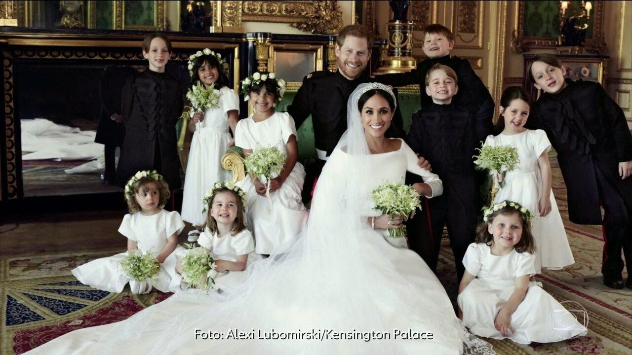 Palácio de Kensington divulga fotos do casamento real
