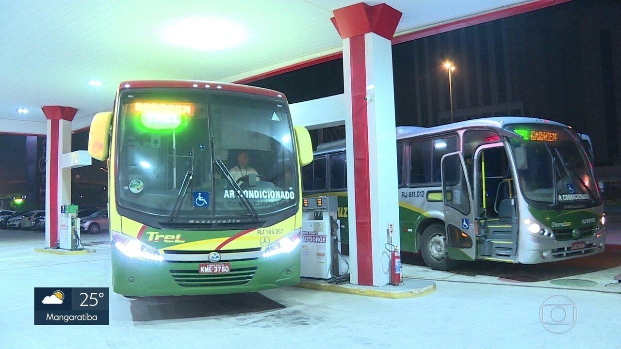Empresas de ônibus reduzem frota na rua por falta de combustível