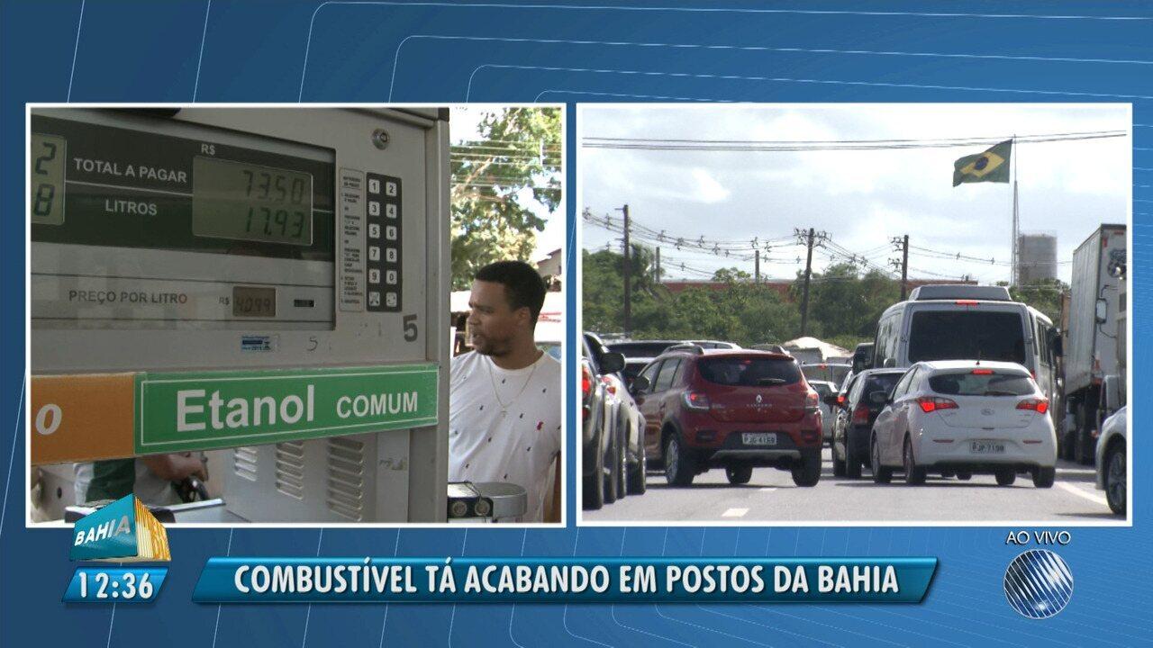 Giro no interior: protesto de caminhoneiros afeta o abastecimento de combustível no estado