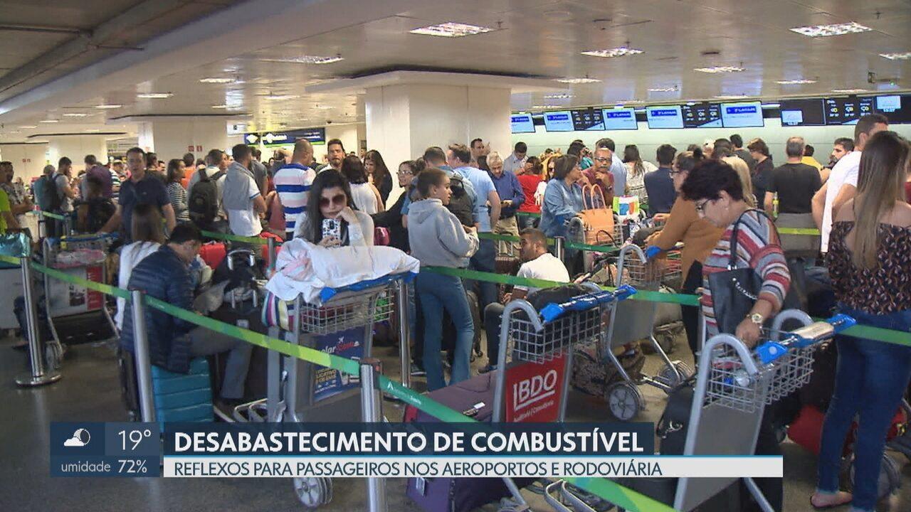 Estoque de combustível do Aeroporto de Brasília acaba e voos são cancelados