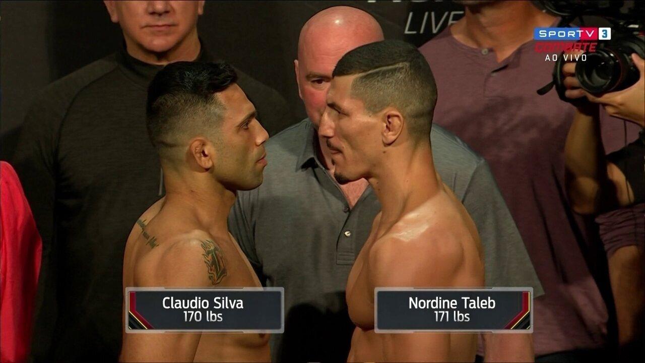 No peso-médio-médio, Cláudio Hannibal e Nordine Taleb batem o peso no UFC Liverpool