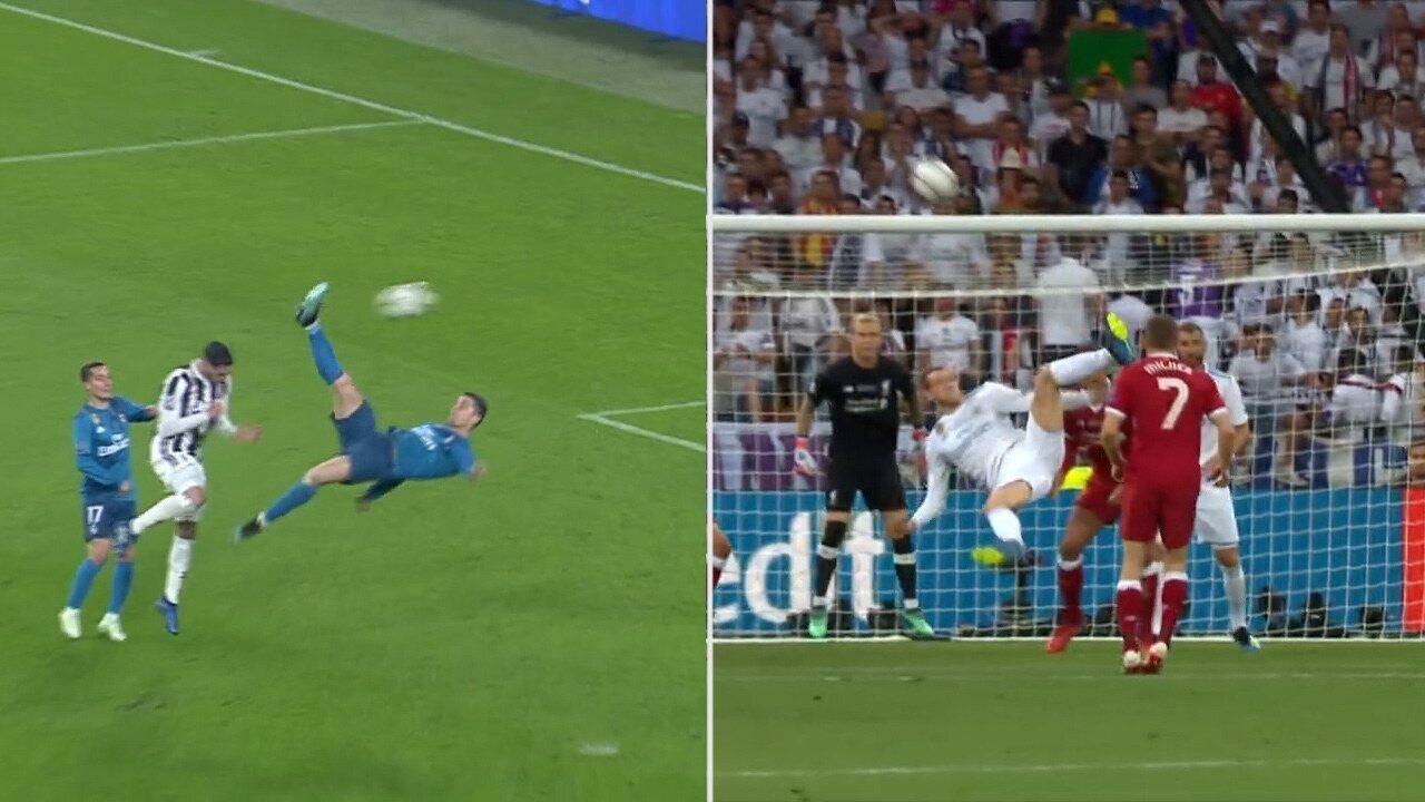 99ba37179e De bicicleta! Veja a semelhança dos gols de CR7 e Bale na Liga dos Campeões