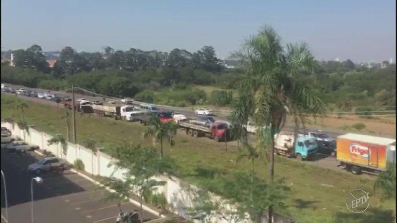 Caminhoneiros recebem apoio em outros protestos pelas regiões de Campinas e Piracicaba