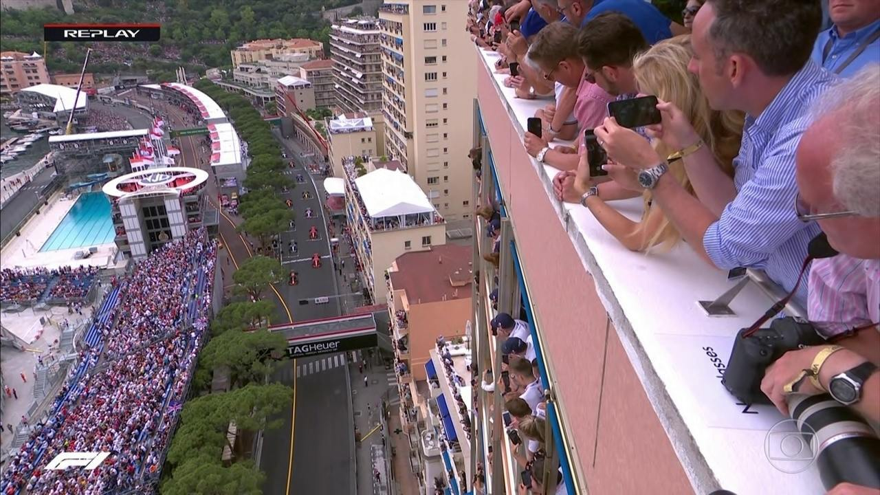 Confira a largada do GP de Mônaco por todos os ângulos