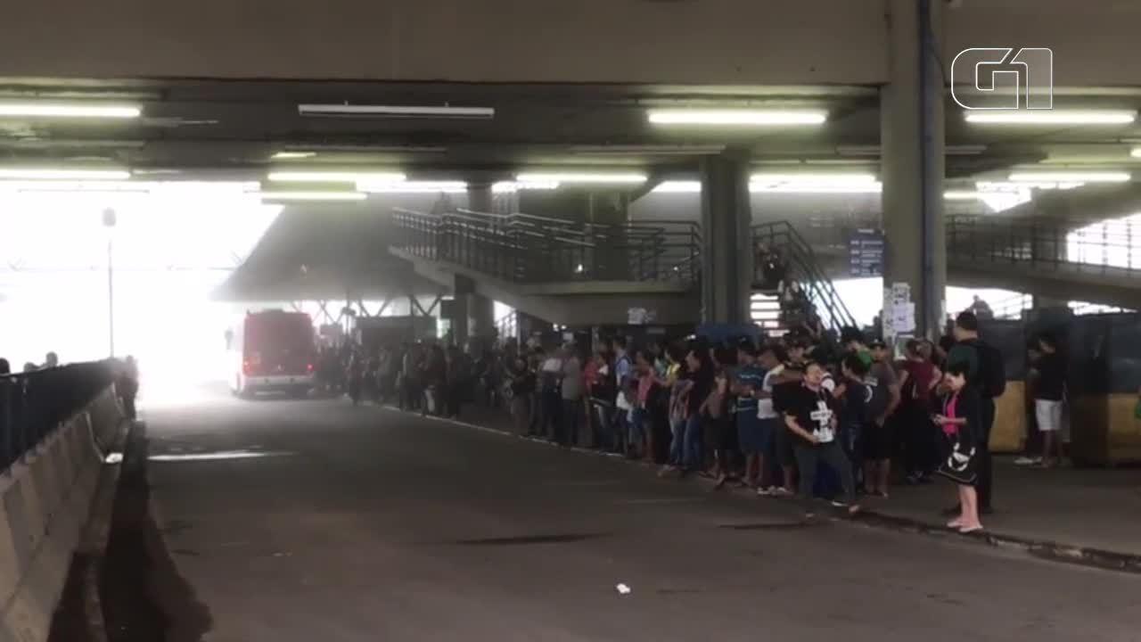 Rodoviários paralisam parte da frota de ônibus em Manaus