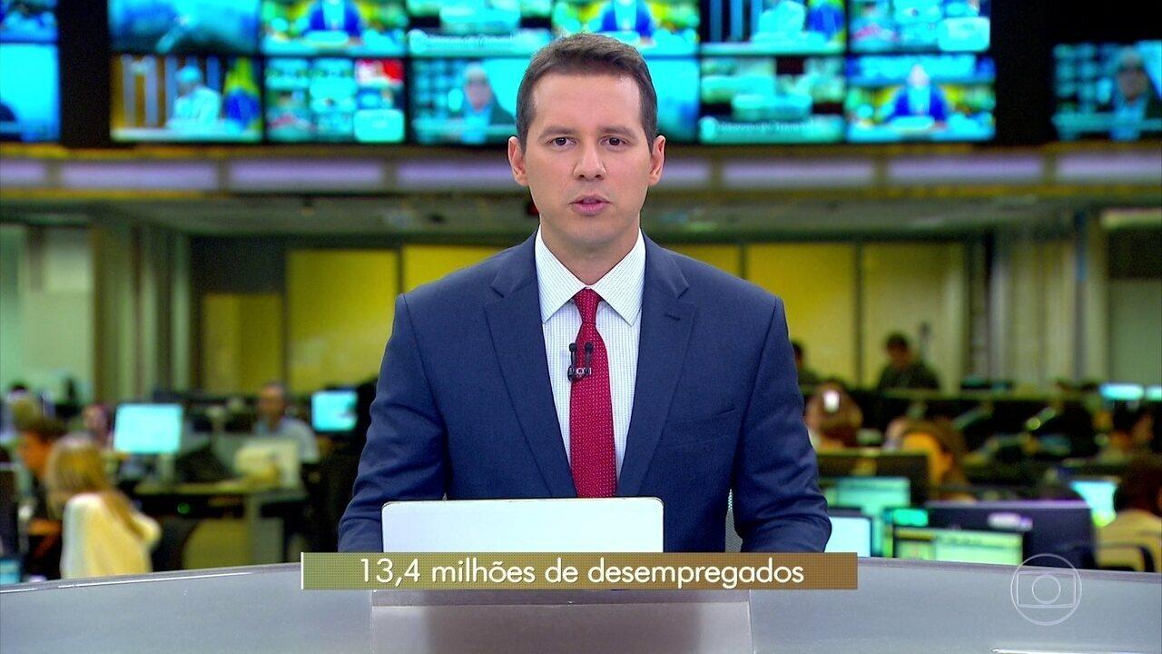 Desemprego atinge 13,4 milhões de brasileiros