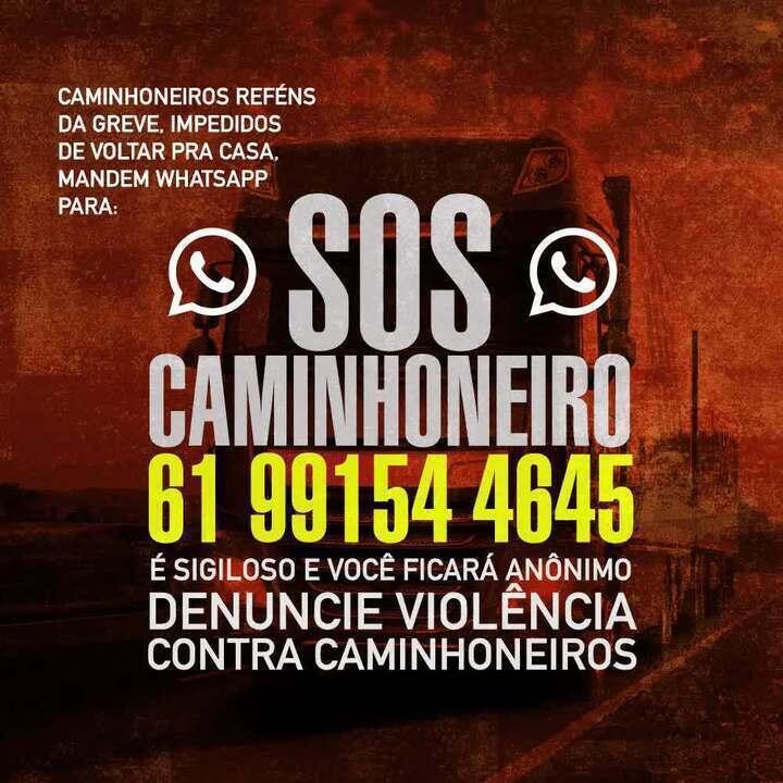 Governo divulga número de telefone para caminhoneiros denunciarem violência durante greve