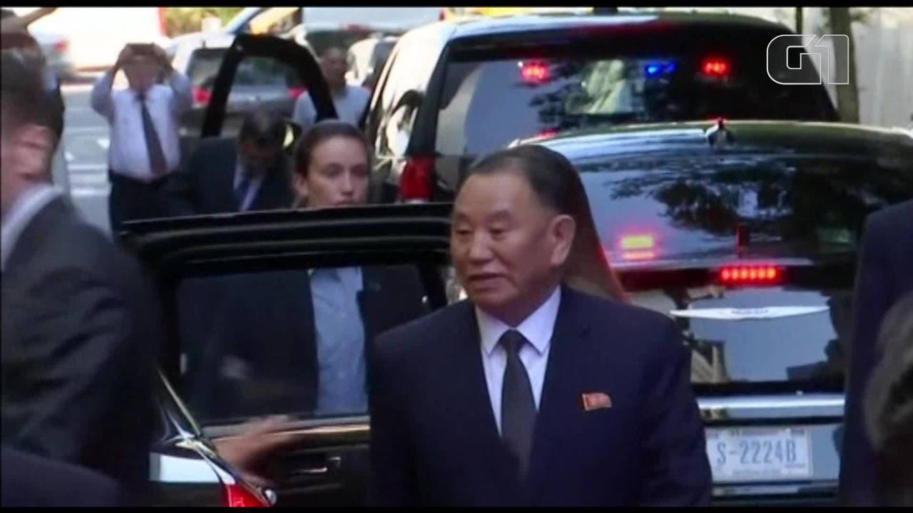 Kim Yong-chol, enviado norte-coreano, desembarca em Nova York